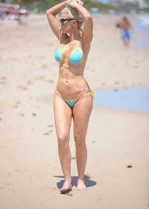 Ana Braga in Tiny Blue Bikini -25