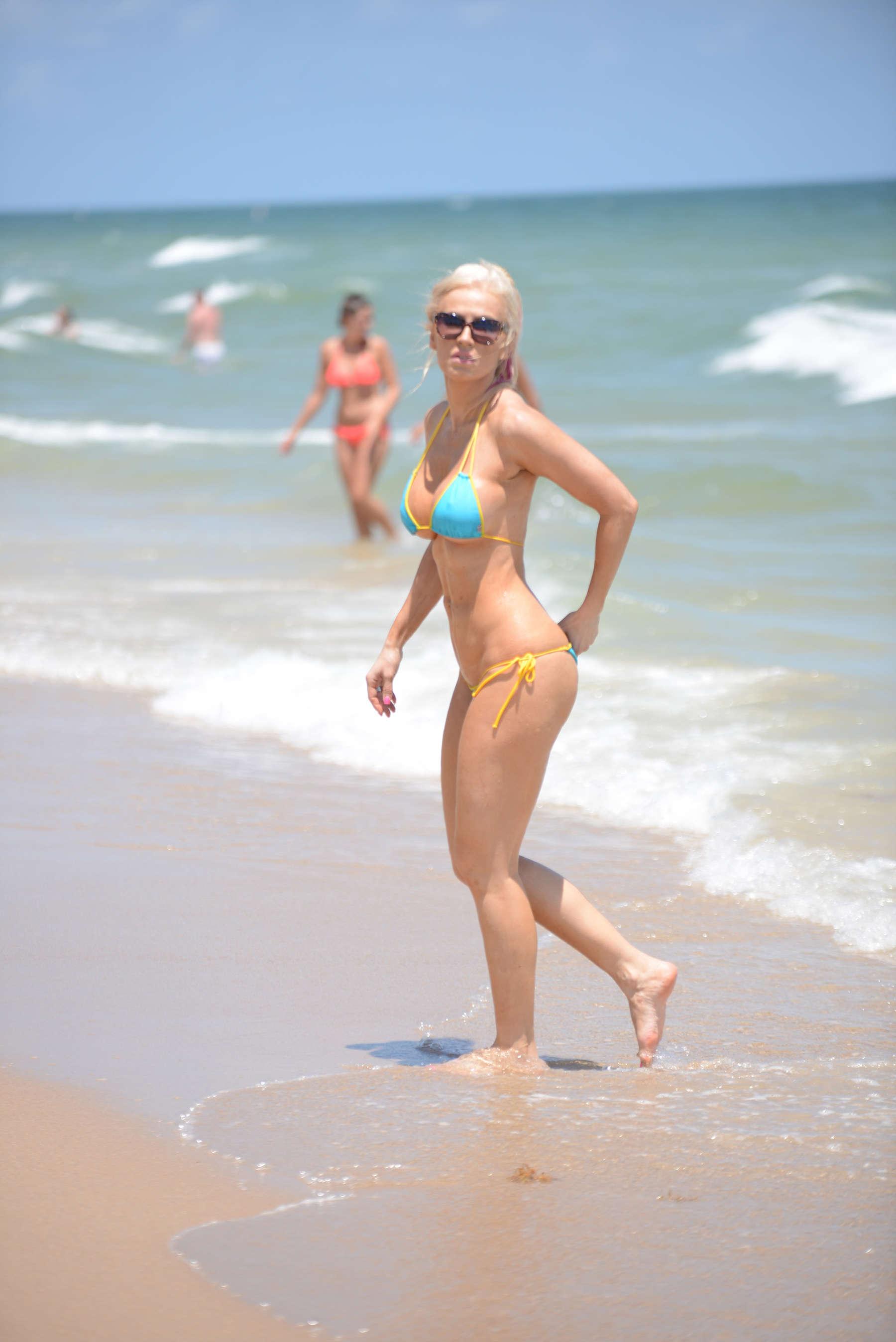 Ana Braga 2016 : Ana Braga in Tiny Blue Bikini -31