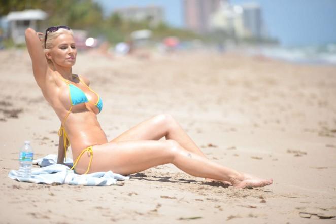Ana Braga 2016 : Ana Braga in Tiny Blue Bikini -32