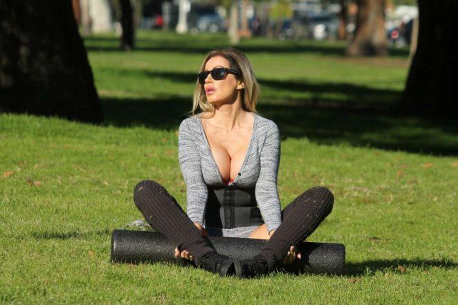 Ana Braga Workout In Studio City
