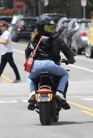 Ana De Armas and Ben Affleck - Cruising on his Harley Davidson in Santa Monica