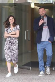 Ana de Armas and Ben Affleck - Leaving an office building in Los Angeles