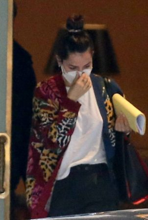 Ana de Armas and Ben Affleck - Leaving their hotel in New Orleans