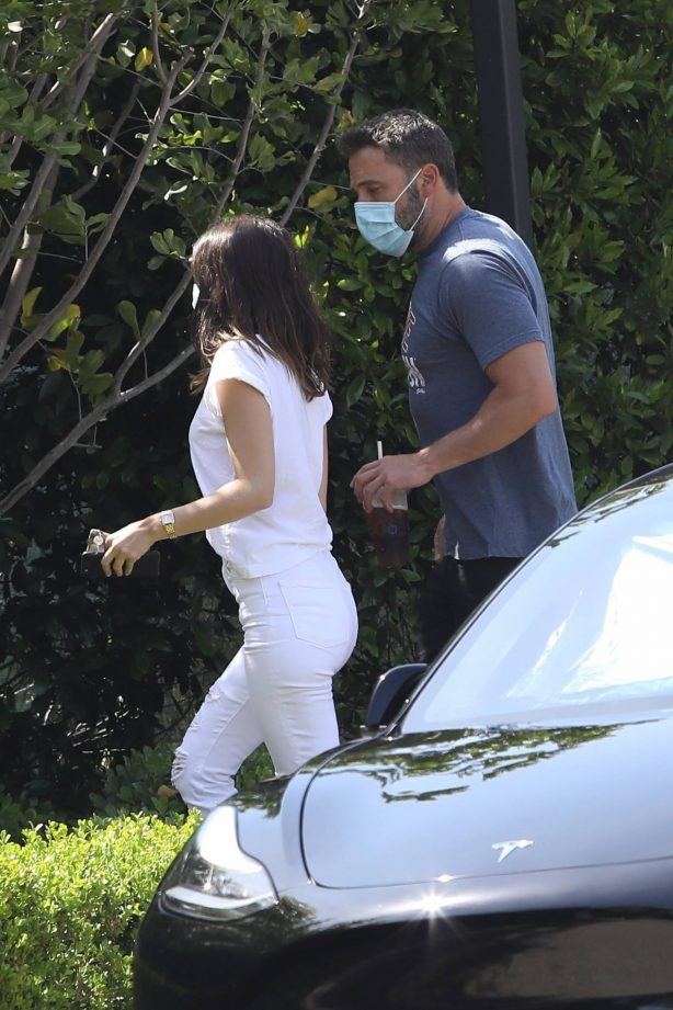 Ana de Armas and Ben Affleck - Out for a coffee run in LA