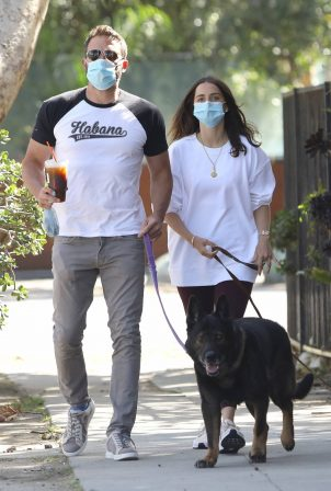 Ana de Armas and Ben Affleck - Out for a dogs walk in Venice