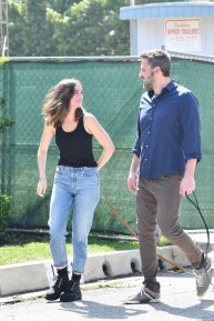 Ana de Armas and Ben Affleck - Out in Brentwood