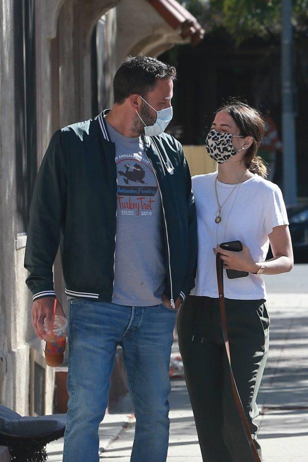 Ana De Armas and Ben Affleck - Out in Venice