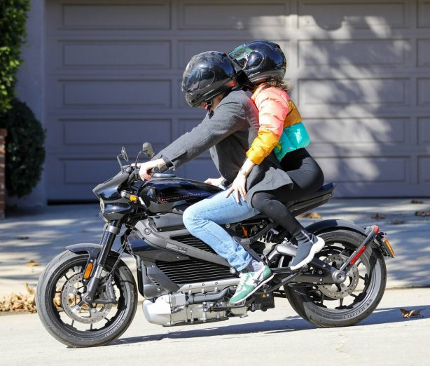Ana De Armas and Ben Affleck - Spotted driving Ben's electric Harley Davidson in Brentwood