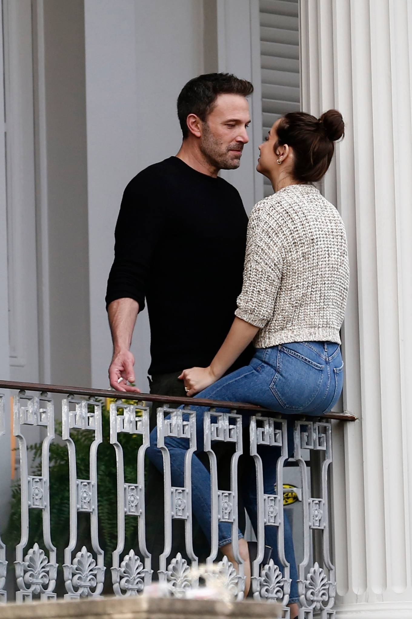 Ana De Armas and Ben Affleck - Spotted on a balcony in New Orleans