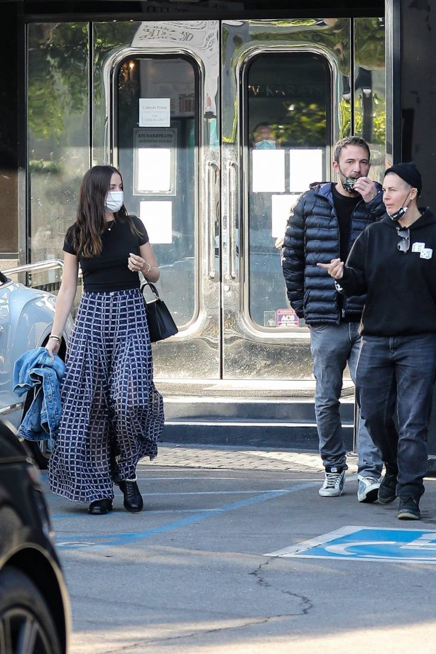 Ana de Armas and Ben Affleck - Spotted outside XIV Karats in Beverly Hills