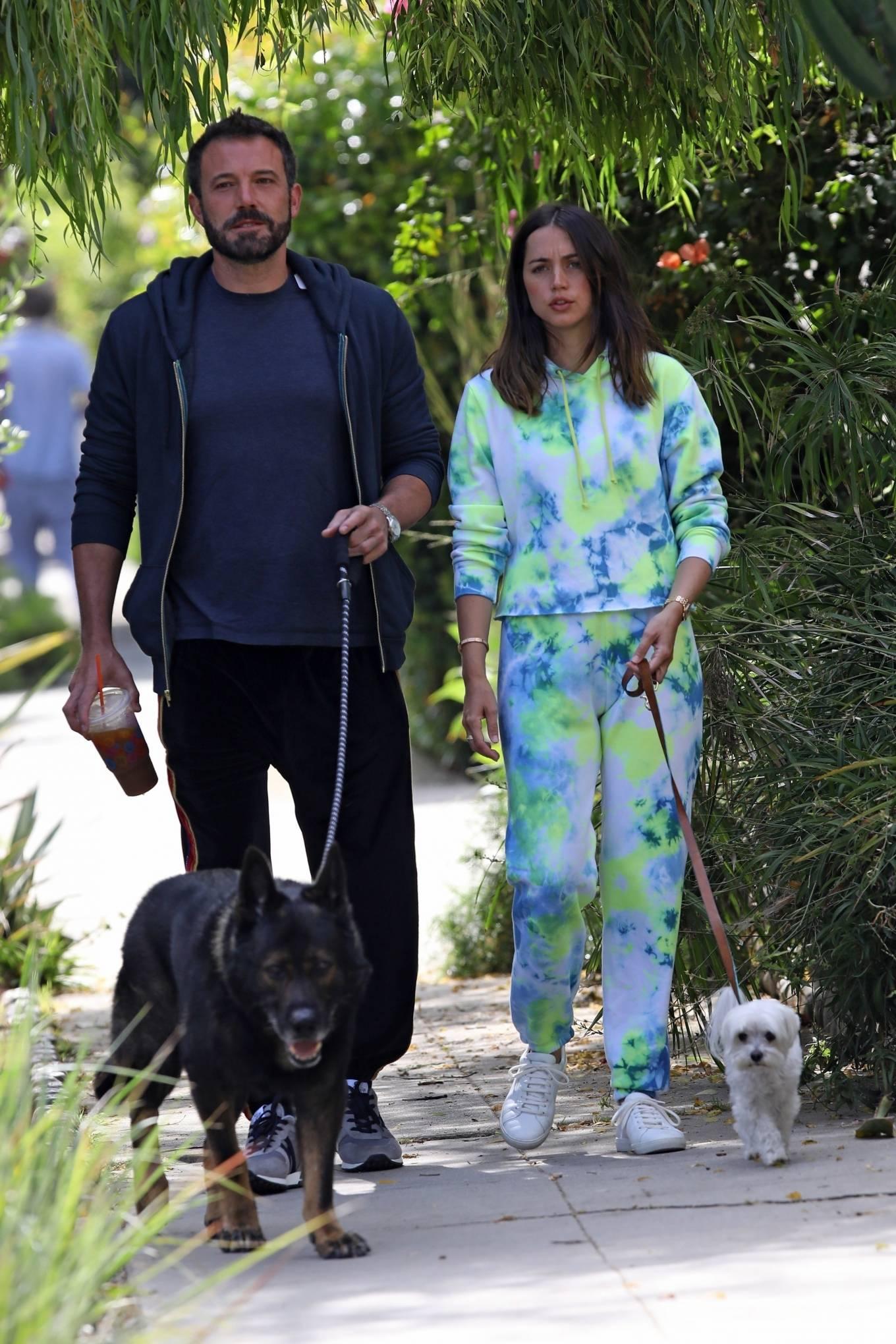 Ana de Armas 2020 : Ana De Armas and Ben Affleck – Taking their dogs for a stroll in Venice-18