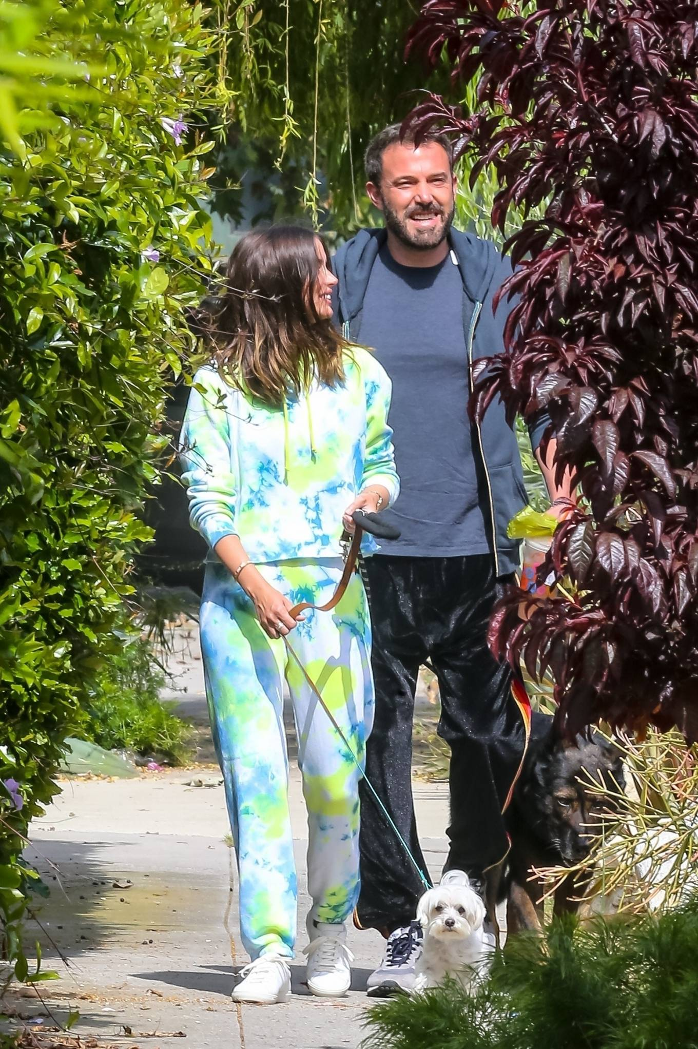 Ana de Armas 2020 : Ana De Armas and Ben Affleck – Taking their dogs for a stroll in Venice-29