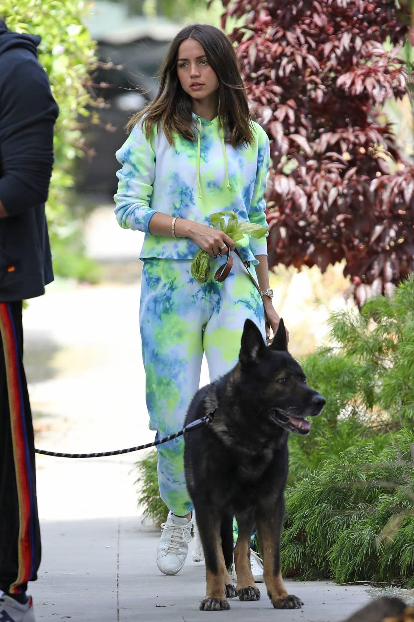 Ana de Armas 2020 : Ana De Armas and Ben Affleck – Taking their dogs for a stroll in Venice-30