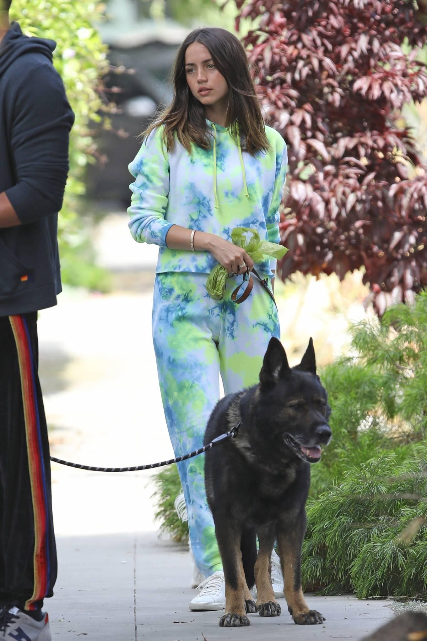 Ana de Armas 2020 : Ana De Armas and Ben Affleck – Taking their dogs for a stroll in Venice-32