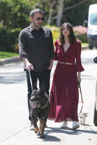 Ana De Armas and Ben Affleck - With their dogs out in Brentwood