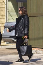 Ana De Armas in Leggings and Leather Jacket