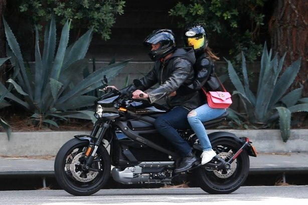 Ana de Armas - Motorcycle ride in Pacific Palisades