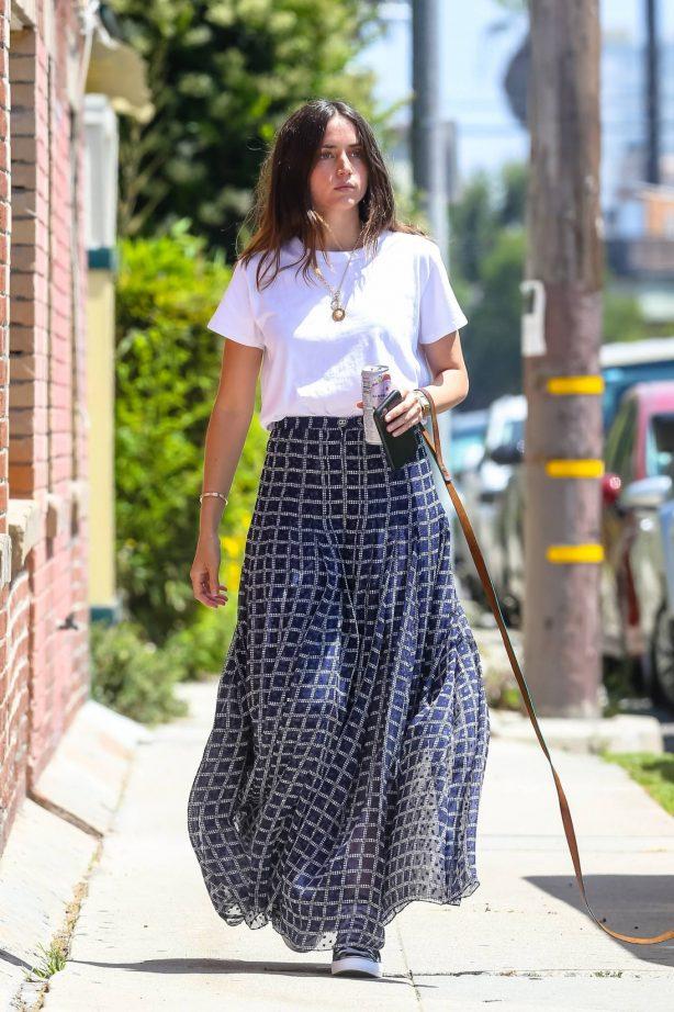 Ana De Armas - Out for a solo dog walk in Venice