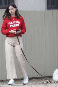 Ana de Armas - Out for a stroll with her dog in the Palisades