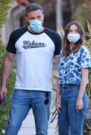 Ana de Armas - out with Ben Affleck for a dogs walk in Venice