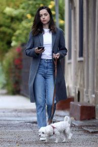 Ana De Armas - Out with her cute dog in Los Angeles