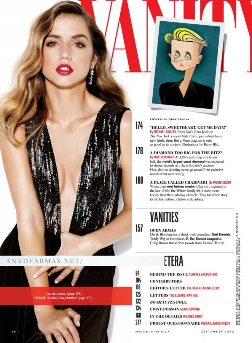 Ana de Armas - Vanity Fair US Magazine (September 2016)