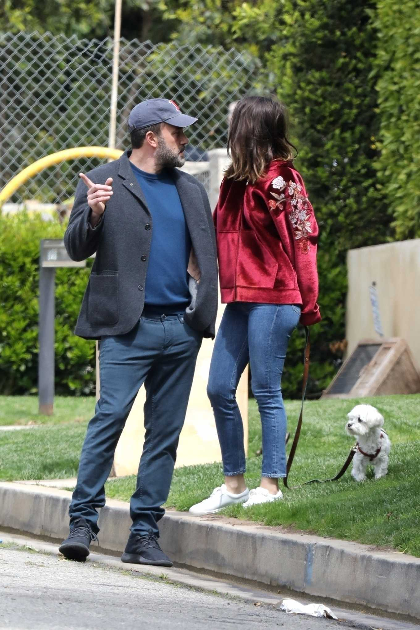 Ana de Armas with Ben Affleck - Out in Brentwood