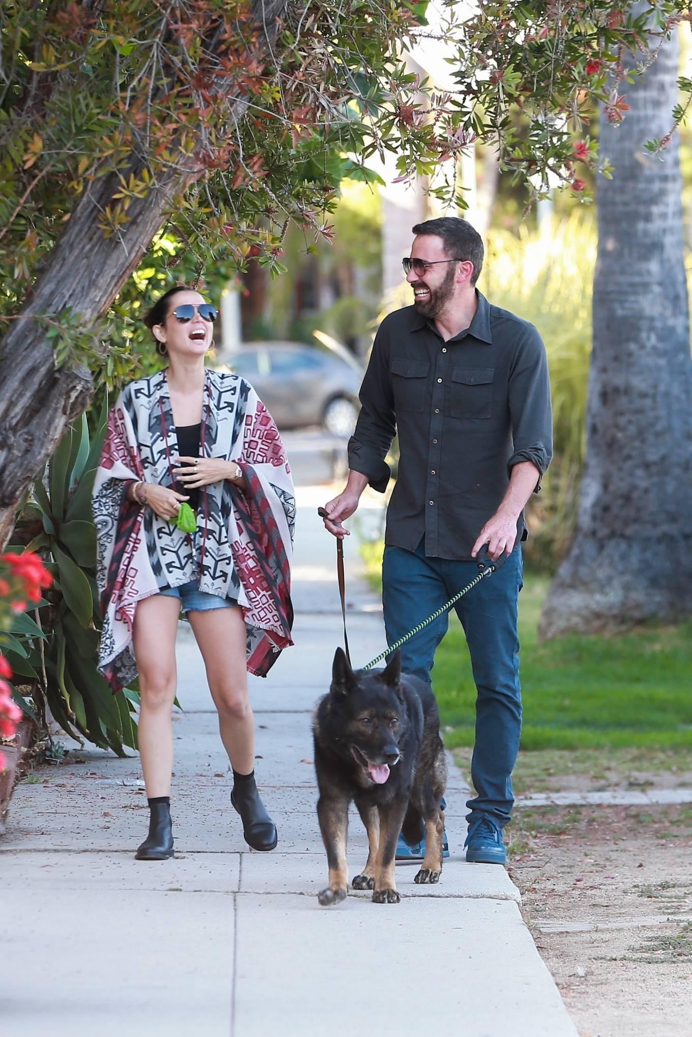 Ana De Armas with Ben Affleck - Spotted in neighborhood in Santa Monica
