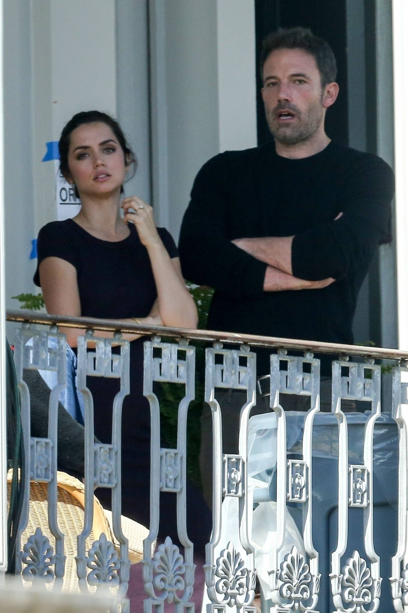 Ana de Armas - With Ben Affleck Takes a break while on set in New Orleans