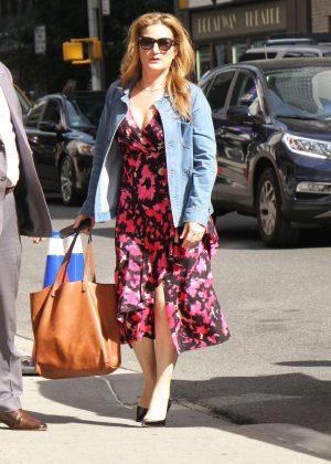 Ana Gasteyer – Arrives at Ed Sullivan Theater in New York ...