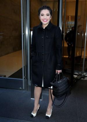 Ana Golja Leaves SiriusXM Radio in New York City