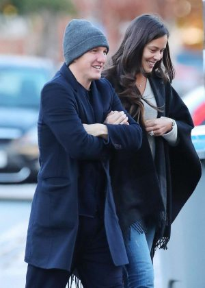 Ana Ivanovic and Bastian Going for a Walk in Chesireiregs