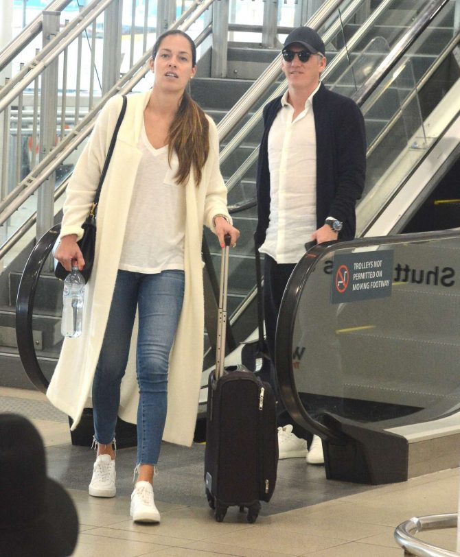 Ana Ivanovic and Bastian Schweinsteiger - Arrives at airport in Sydney