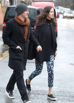 Ana Ivanovic and Bastian Schweinsteiger out for lunch in Cheshire