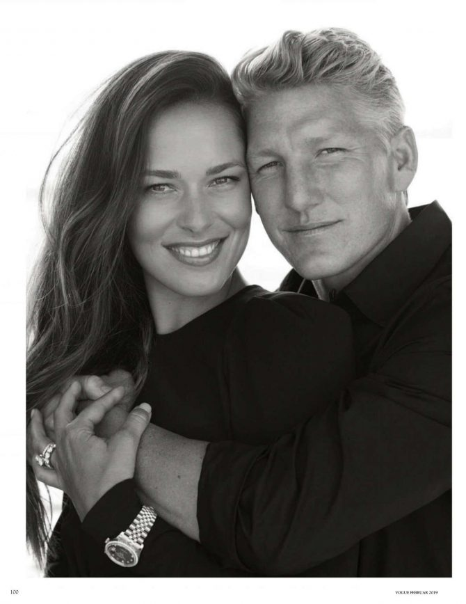 Ana Ivanovic and Bastian Schweinsteiger – Vogue Deutschland Magazine (February 2019)