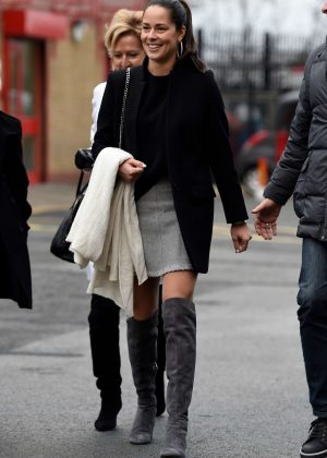 Ana Ivanovic - Arriving at Old Trafford in Manchester