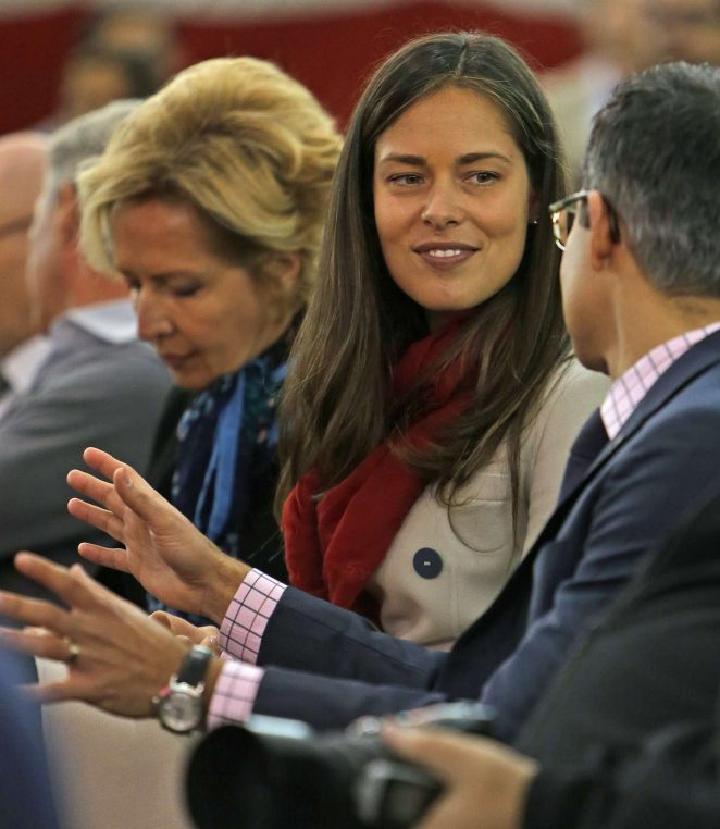 Ana Ivanovic at the press conference for his new team the Chicago Fire in Chicago