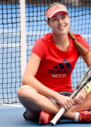 Ana Ivanovic - Training at the 2016 ASB Classic in New Zealand