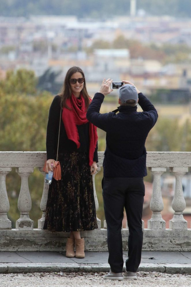 Ana Ivanovic with husband on vacation in Rome -03