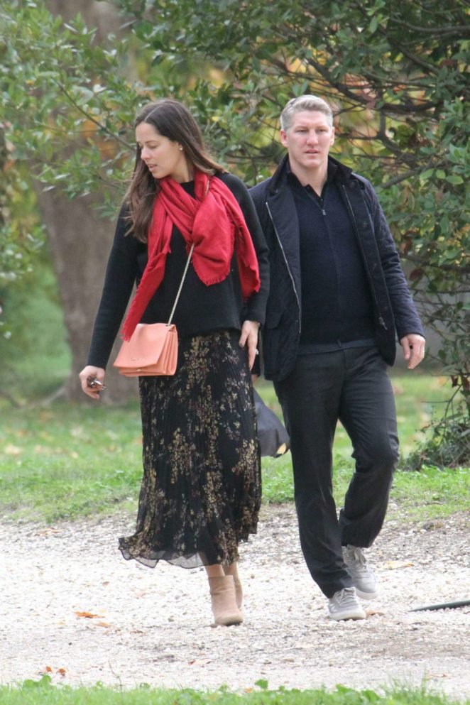 Ana Ivanovic with husband on vacation in Rome