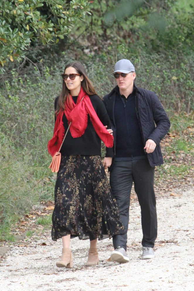 Ana Ivanovic with husband on vacation in Rome -10