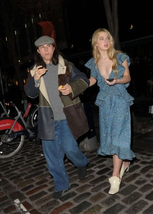 Anais Gallagher - Leaving the Mulberry afterparty in London