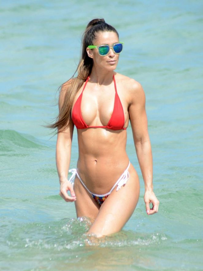 Anais Zanotti Hot in Bikini on Miami Beach