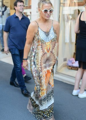 Anastacia in Long Dress Shopping in Milan