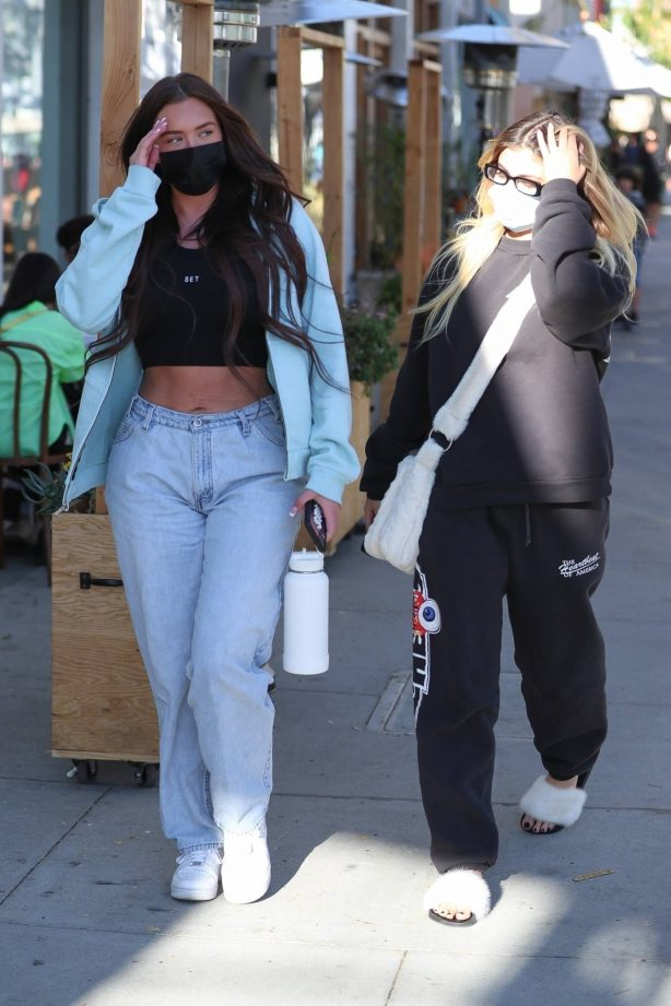 Anastasia Karanikolaou and Kelsey Calemine - Spotted at Croft Alley in Beverly Hills