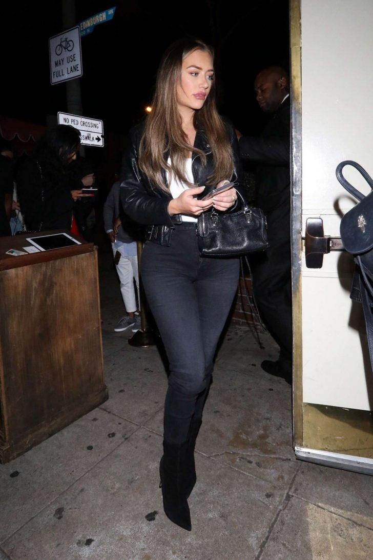Anastasia Karanikolaou - Arrives at Delilah nightclub in West Hollywood