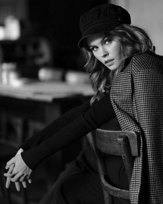 Anastasiya Scheglova - Black and White Photoshoot (March 2019)