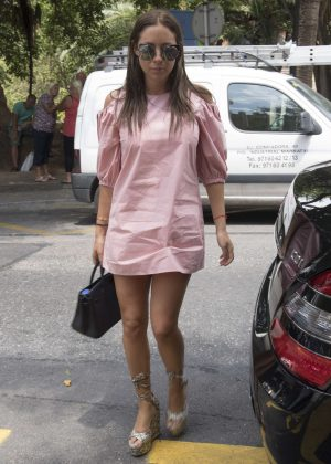 Anat Popovsky in Mini Dress Shopping in Palma