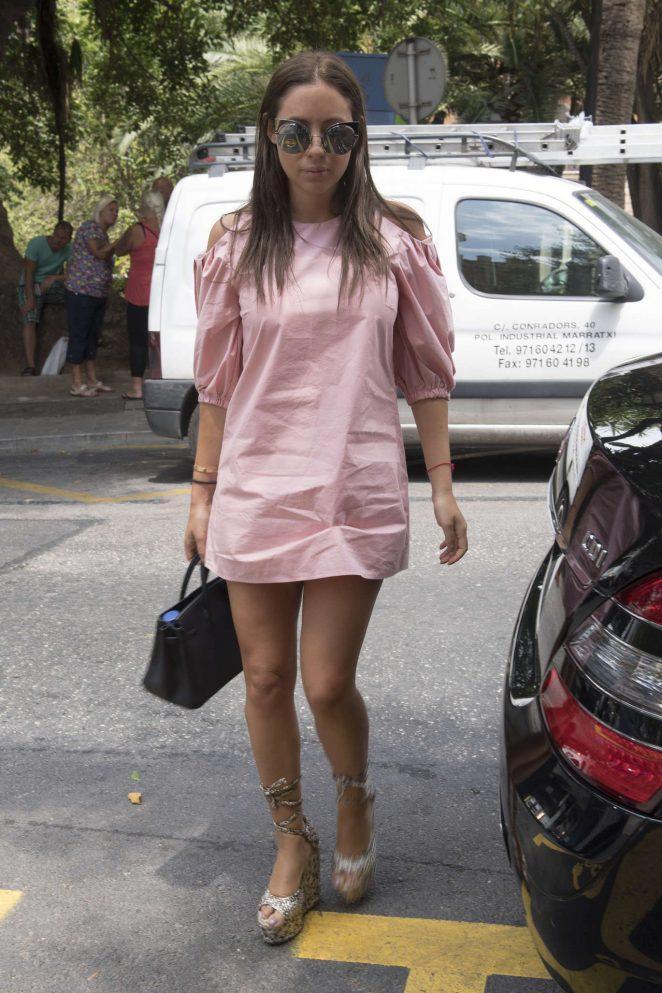 Anat Popovsky in Mini Dress Shopping in Palma