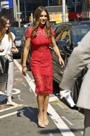Andi Dorfman in Red Dress - Out in New York City